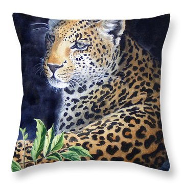 Leopard  Sold  Prints Available Throw Pillow