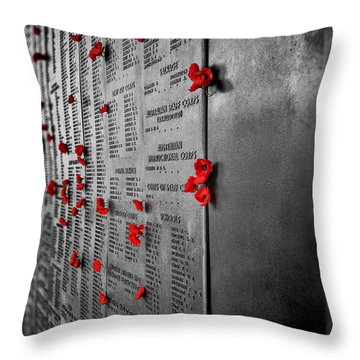 Lest We Forget V3 Throw Pillow
