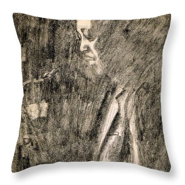 Lester Young Throw Pillow by Mel Thompson