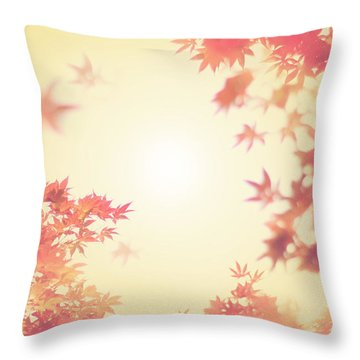Let It Fall Throw Pillow by Amy Tyler