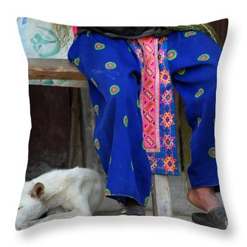 Let Sleeping Dogs Dream Throw Pillow by Nola Lee Kelsey
