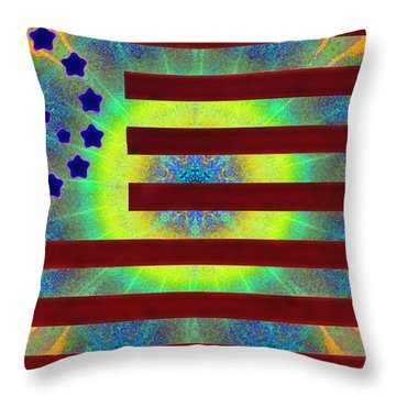 Let Your Freak Flag Fly Throw Pillow by Bill Cannon
