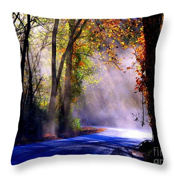 Let Your Light Shine Down On Me Throw Pillow by Carolyn Wright