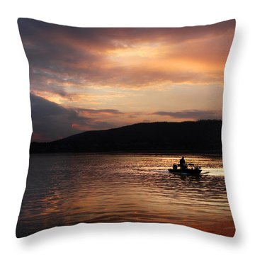 Let's Call It A Day Throw Pillow by Lori Deiter