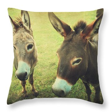 Let's Chat Throw Pillow by Laurie Search