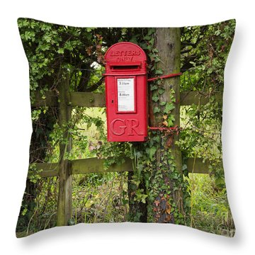 Letterbox In A Hedge Throw Pillow by Louise Heusinkveld
