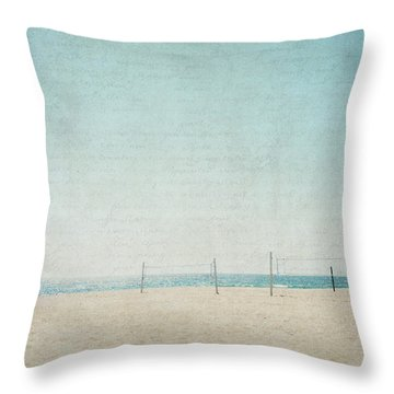 Throw Pillow featuring the photograph Letters From The Beach by Lisa Parrish