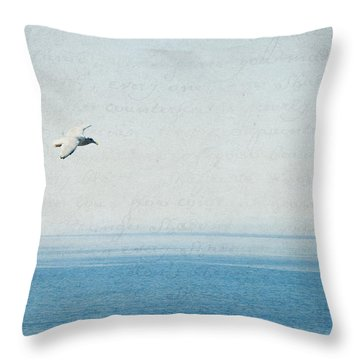Throw Pillow featuring the photograph Letters From The Sky by Lisa Parrish