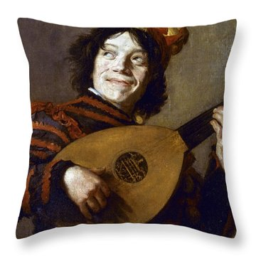 Leyster: The Jester Throw Pillow by Granger