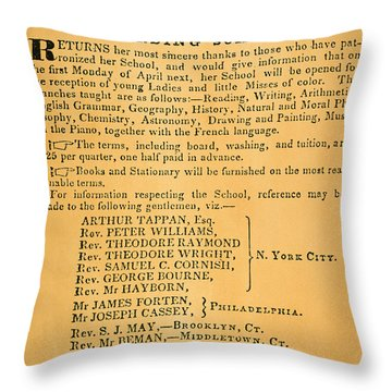 Liberator: Crandalls Ad Throw Pillow by Granger