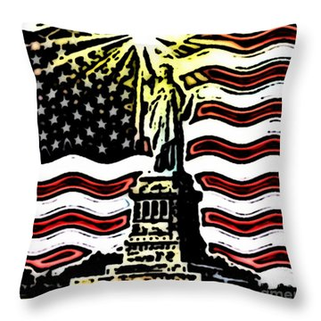 Liberty And Glory Throw Pillow by Thomas OGrady