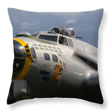Liberty Belle B17 Bomber Throw Pillow