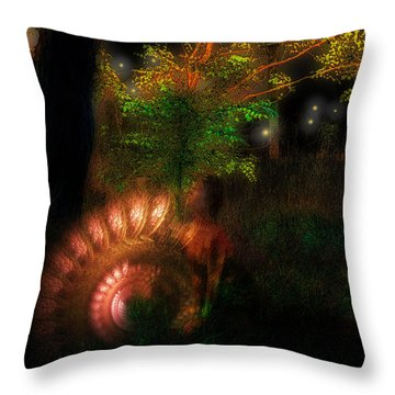 Lichtwesen Throw Pillow by Mimulux patricia no No
