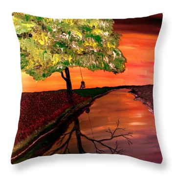 Life And Death Digital Enhanced Throw Pillow by Mark Moore