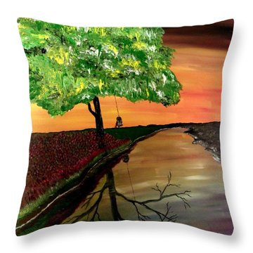Life And Death Throw Pillow by Mark Moore