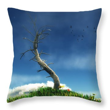 Life And Death... Throw Pillow