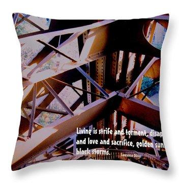 Life Is Strife Throw Pillow by Ian  MacDonald