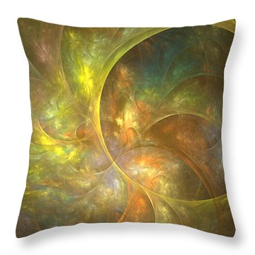 Life Of Leaf - Abstract Art Throw Pillow