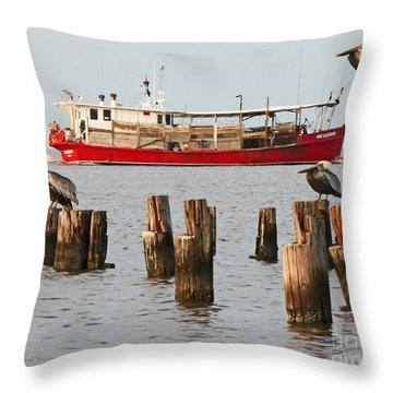 Life On Lake Ponchartrain Throw Pillow