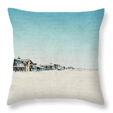 Throw Pillow featuring the photograph Letters From The Beach House - Square by Lisa Parrish