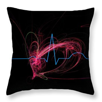 Life Signs Throw Pillow by Adam Vance
