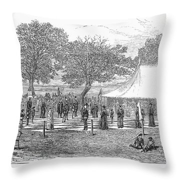 Life-sized Chess, 1882 Throw Pillow by Granger