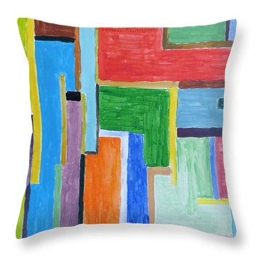 Throw Pillow featuring the painting Life by Sonali Gangane