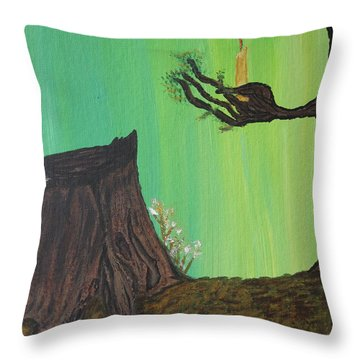 Light A Candle For Me Throw Pillow