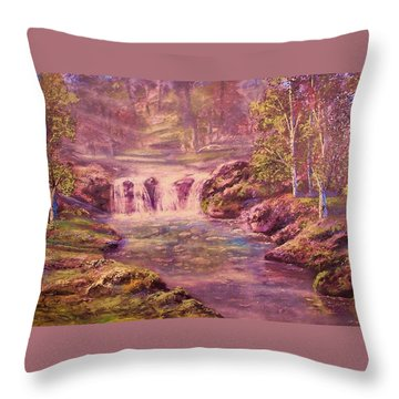 Light And Color Throw Pillow by Michael Mrozik
