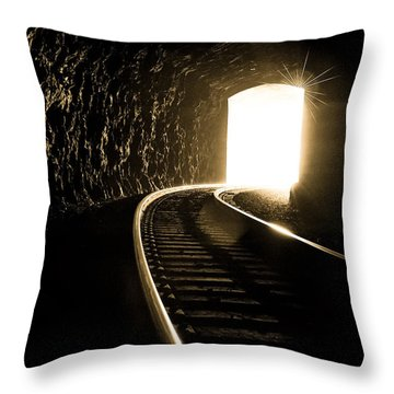 Light At The End Of The Tunnel Throw Pillow by Joye Ardyn Durham