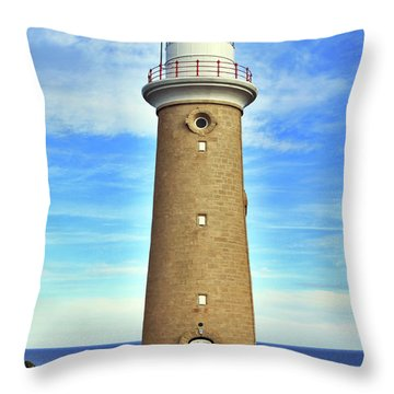 Light House At Cape Du Couedic Throw Pillow