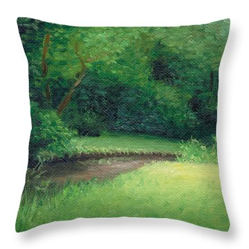 Throw Pillow featuring the painting Light In August by Joe Winkler