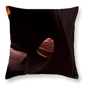 Light In The Eye Throw Pillow by Mike  Dawson