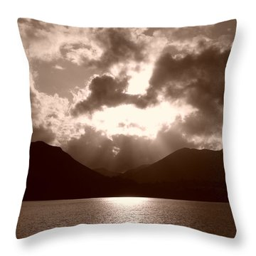 Light In The Sky Throw Pillow by Nicola Butt