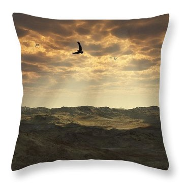 Light In The Valley Throw Pillow by Julie Grace