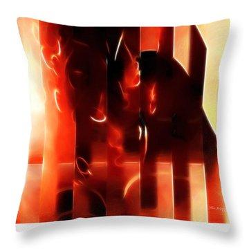 Light Shine. Christian Art Poster Throw Pillow by Mark Lawrence