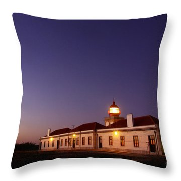 Lighthouse Throw Pillow by Carlos Caetano