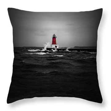 Lighthouse Glow Throw Pillow