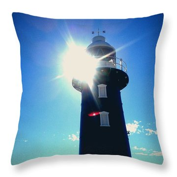 Throw Pillow featuring the photograph Lighthouse In The Sunlight by Roberto Gagliardi