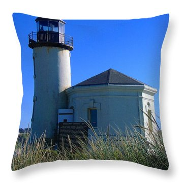 Throw Pillow featuring the photograph Lighthouse by Rory Sagner