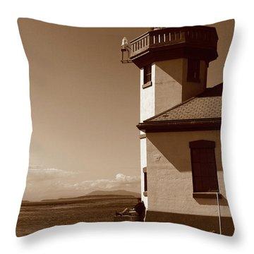 Throw Pillow featuring the photograph Lighthouse San Juan by Lorraine Devon Wilke