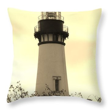 Throw Pillow featuring the photograph Lighthouse Tranquility by Athena Mckinzie