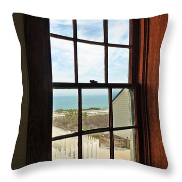 Lighthouse Window Throw Pillow by Methune Hively