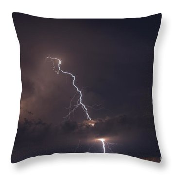 Throw Pillow featuring the photograph Lighting  by Alana Ranney