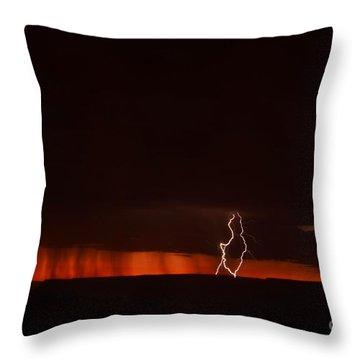 Lightning At The Grand Canyon Throw Pillow