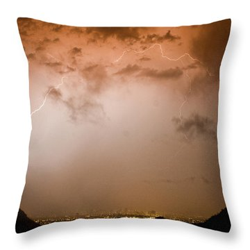 Lightning Dome Throw Pillow by James BO  Insogna