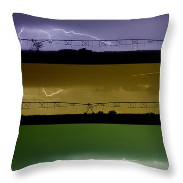 Lightning Warhol  Abstract Throw Pillow by James BO  Insogna