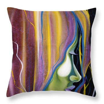 Lights II Throw Pillow by Sheridan Furrer
