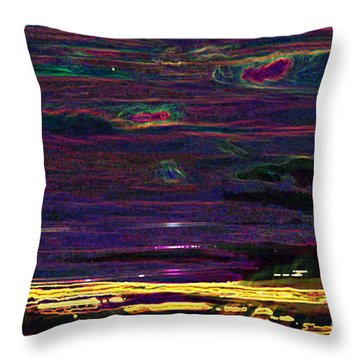 Lights In The Valley Throw Pillow