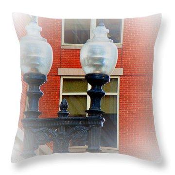 Lights Of Boston Throw Pillow by Marie Jamieson